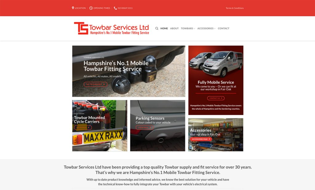 Towbar Services New Website